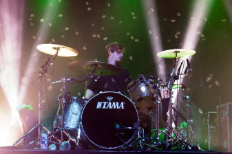 FOALS drummer, Jack Bevan, performs at Echostage on Nov. 4. (Casey Tomchek/Freelance Photographer)