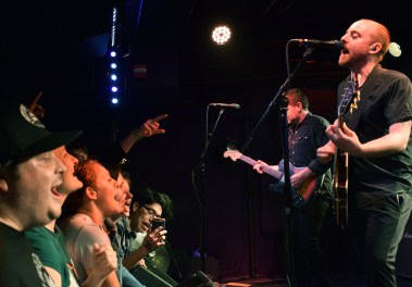 A sold out crowd of Menzingers fans pack the front of the stage during their show at D.C.'s Rock And Roll Hotel Wednesday, March 29, 2017 (Jordan Stovka/Bloc Reporter).