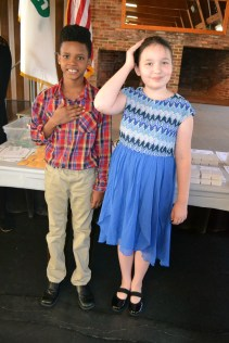 4-H'ers reciting the 4-H Pledge