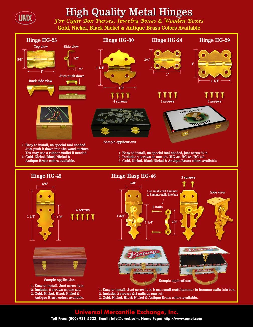 Jewellery Box Latches : jewellery, latches, Jewelry, Hardware, Supplies