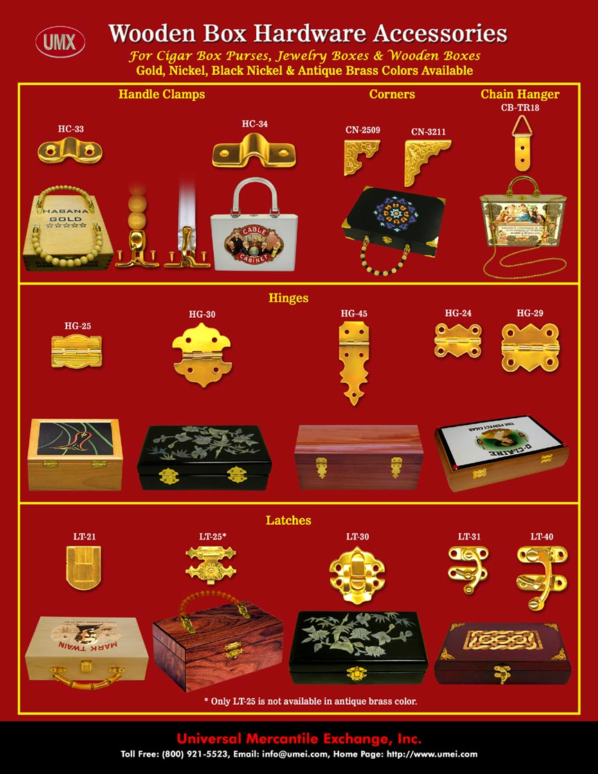 Jewelry Box Hinges And Clasps : jewelry, hinges, clasps, Jewelry, Hinges, Latches