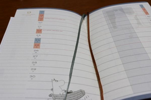 ムーミン手帳 綴り紐