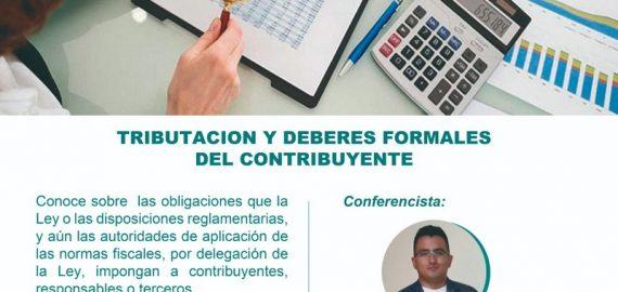 """Conferencia: """"Tributación y deberes formales del contribuyente"""""""