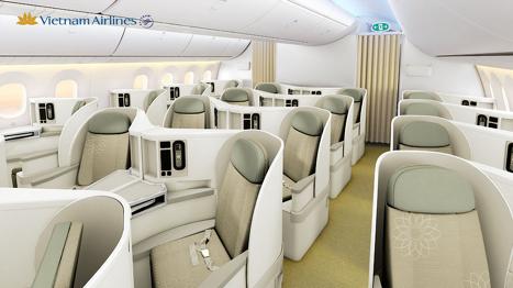 ベトナム航空787-9型機ビジネスクラス