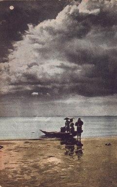 Scene on Beach Manila, P.I.