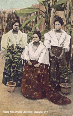 Three Philippines Belles, Manila, P.I.