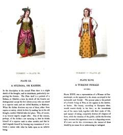 Plate 47 and 60 from Eski Türk kiyafetleri ve güzel giyim tarzlari / Ingilizce'den mütercimi: Muharrem Feyzi