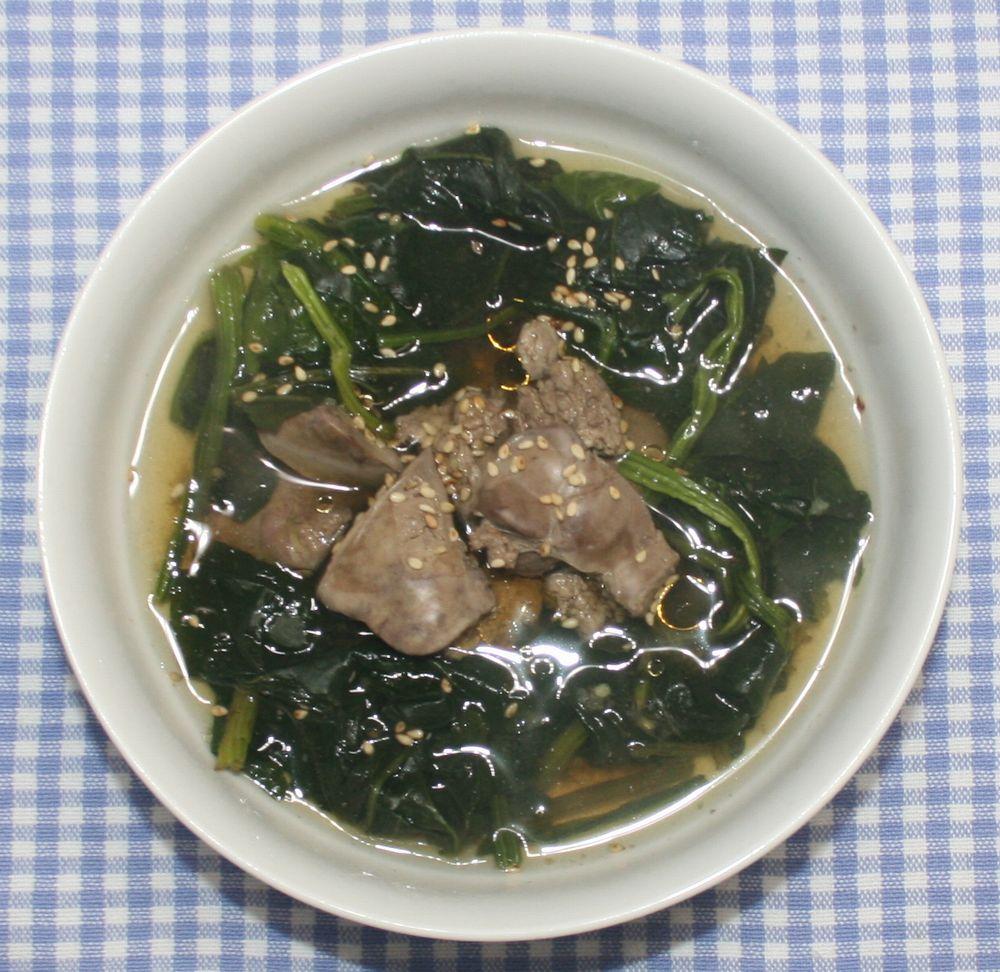 食品乾燥機 de レシピ : 野菜高騰☆乾燥ほうれん草とレバーの ...