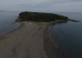 沖ノ島、空からの様子(ドローン撮影)