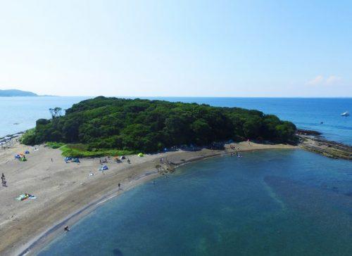沖ノ島の風景