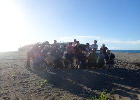 沖ノ島の森の再生活動実施しました。2020年8月30日