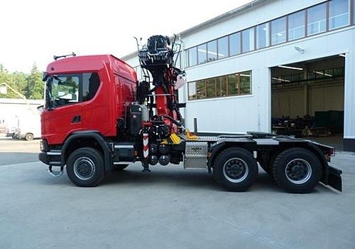 Scania 6×6 na vzduchovém pérování