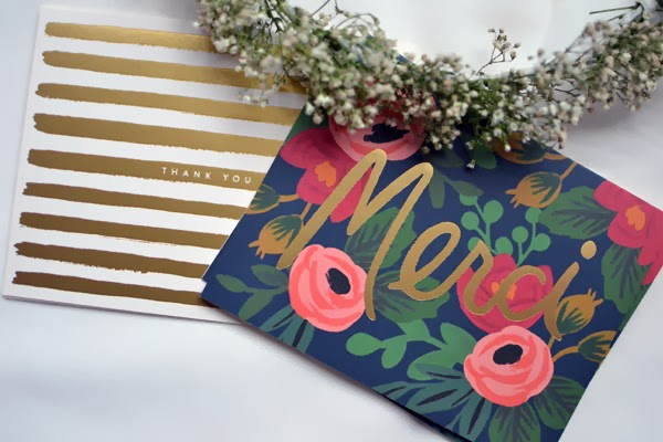 'THANK YOU' WITH RIFLE PAPER CO.