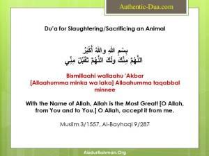 Qurbani ki Dua for slaughtering sacrificing an animal