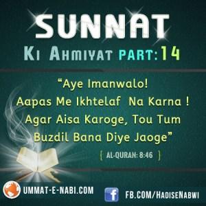 Sunnat Ki Ahmiyat : Part 14