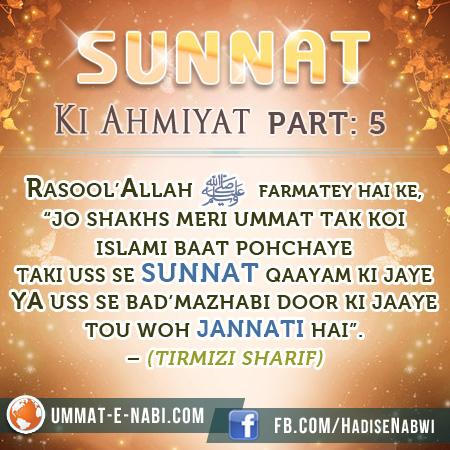 Sunnat Ki Ahmiyat: Part 5