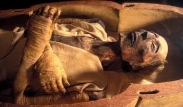 Dead body of Firoun Ramases_II mummy Egypt