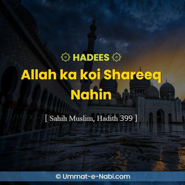 Hadees Allah ka koi Shareeq Nahin