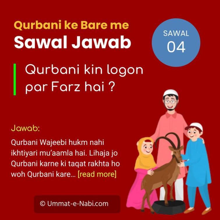 Qurbani kin logon par Farz hai ?