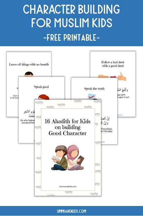 Character Building for muslim Kids | Free Printable