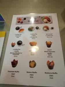 Dialogue in the Dark Malaysia menu