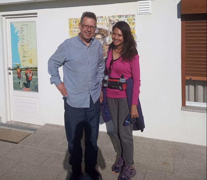 Me and the hostel owner in Barcelinhos