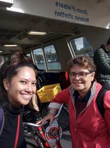On the ferry to Amsterdam Central