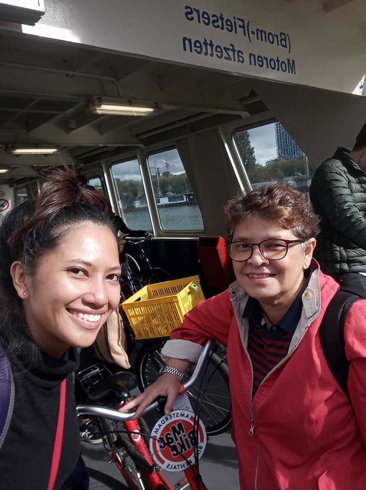 On the ferry to Amsterdam Centraal