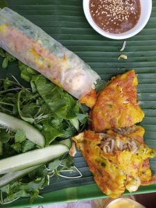 vietnamese food - omelet and spring roll | Ummi Goes Where?