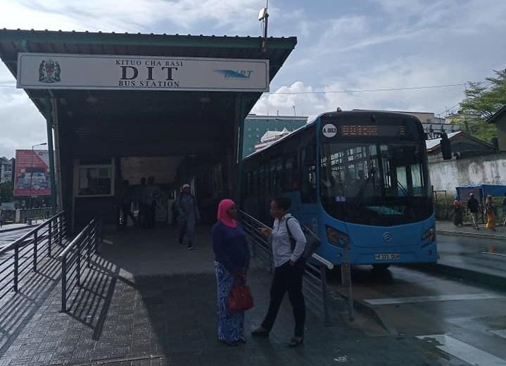 Bus stop in Dar es Salaam