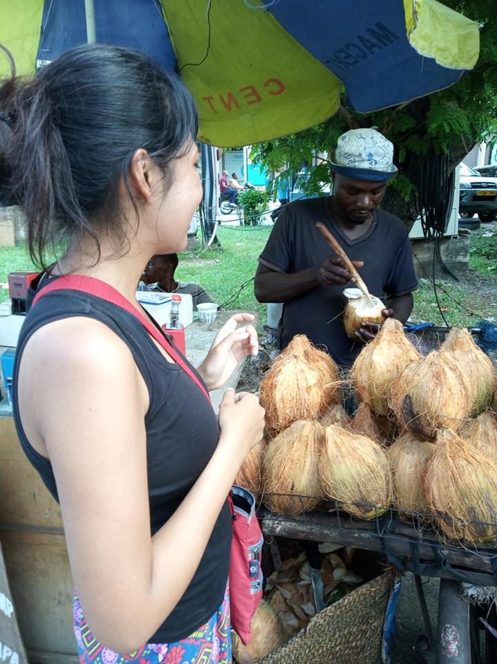 Coconut juice in Dar es Salaam