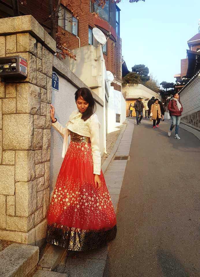 Wearing Hanbok in Seoul