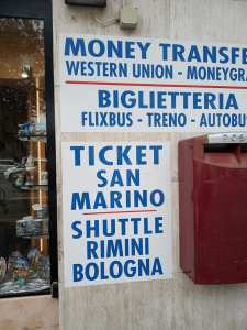 Where to buy ticket to San Marino from Rimini | Ummi Goes Where?