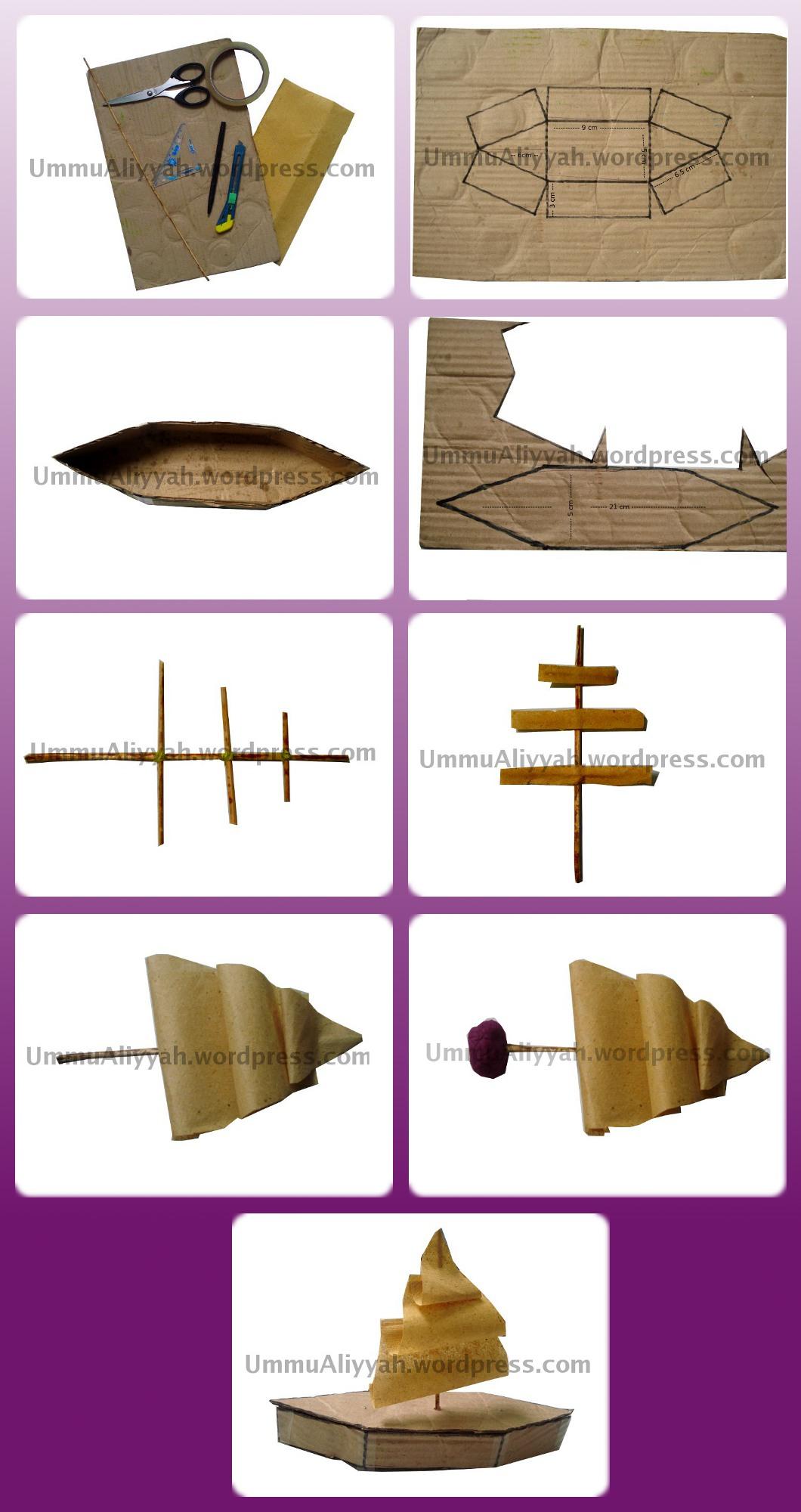 Cara Membuat Kapal Dari Kardus : membuat, kapal, kardus, Tutorial, Membuat, Perahu, Layar, Sederhana, Kardus, Bekas, Aliyyah, Thabrani