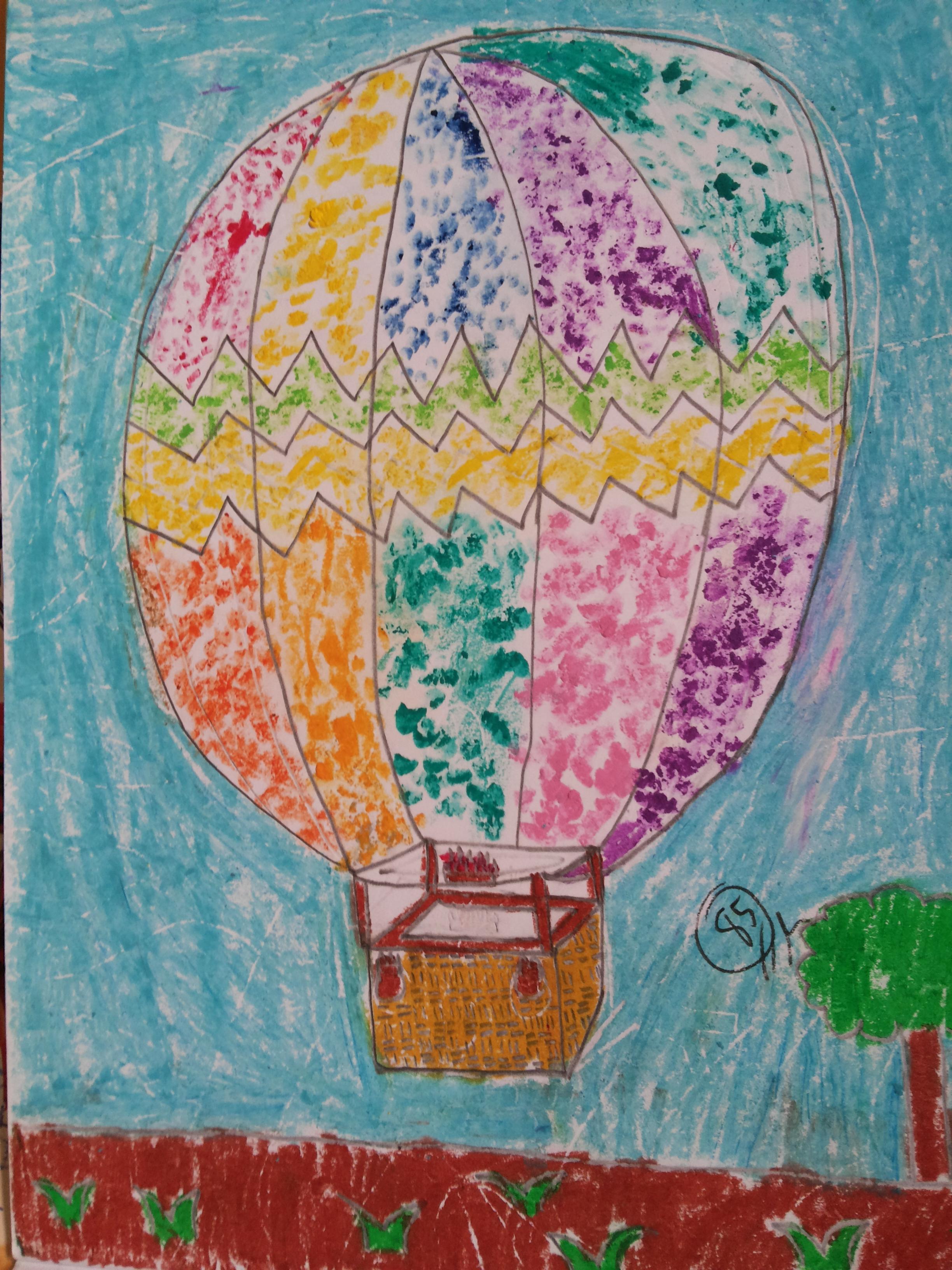Balon Udara (Pointillism)   Ummu Aliyyah Ath Thabrani