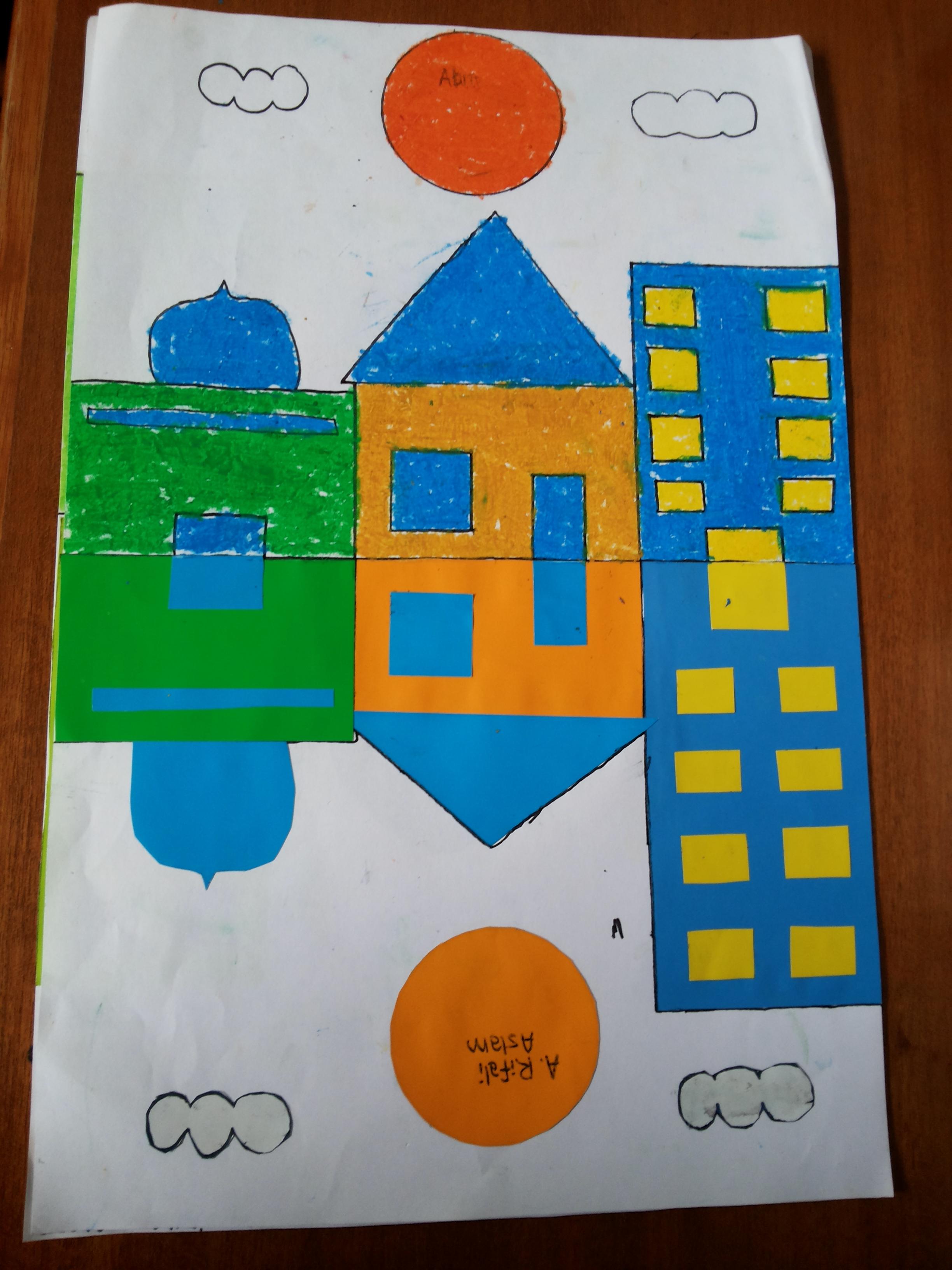 Cara Membuat Kolase Dari Kertas Origami : membuat, kolase, kertas, origami, Kelas, Aliyyah, Thabrani