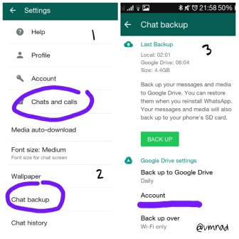 Chat Backup Pada Android..