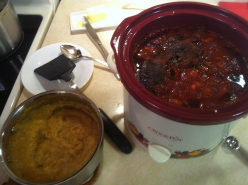 stew and polenta