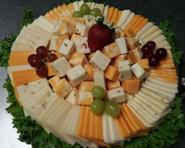 Cheese spread in a circle photo