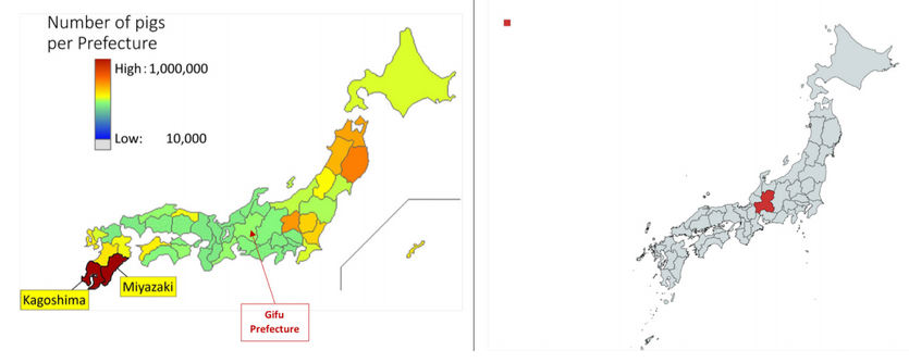 Classical swine fever map japan september 2018