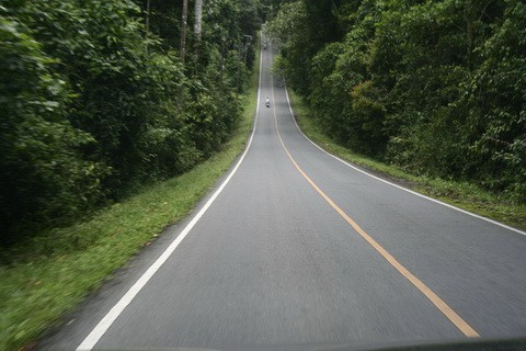 road in the hills of Thailand as part of the infrastructure for video production