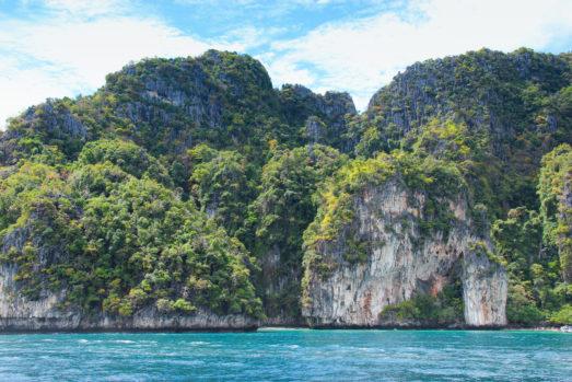 Phuket cliffs on water