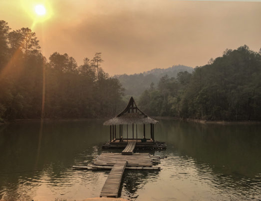 Temple on the water in Chiang Mai as a top filming location in thailand
