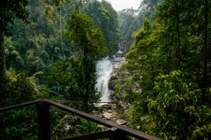 Sirithawan waterfall a location in Thailand for video production