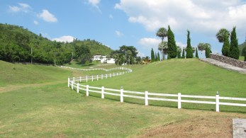 Suwan Farm Horse field a location in Thailand for video production