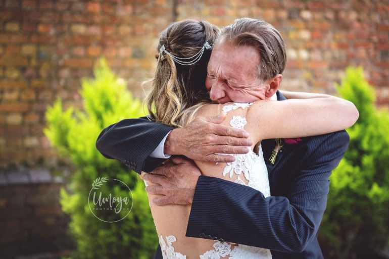 Emotional Father of the Bride, photographed by Horsham photographer, Kelly Rabie
