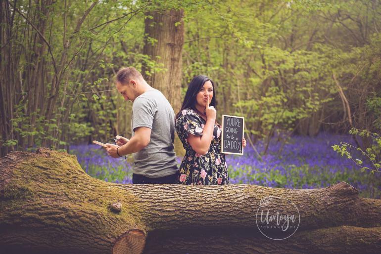 Pregnancy surprise shoot Bluebells