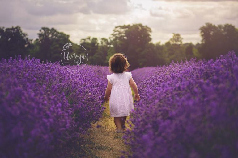 Girl amongst the lavender