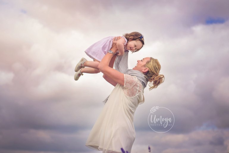 Mom and daughter having fun at a photoshoot in Horsham