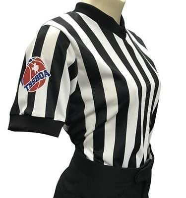 THSBOA Women's V-Neck Basketball Shirt with Black Side Panel
